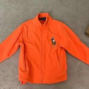 orange polo ralph lauren jacket boys 8/10